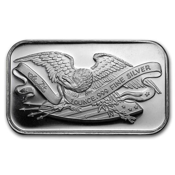 1 oz Silver Bar - SilverTowne Retro Eagle & Shield