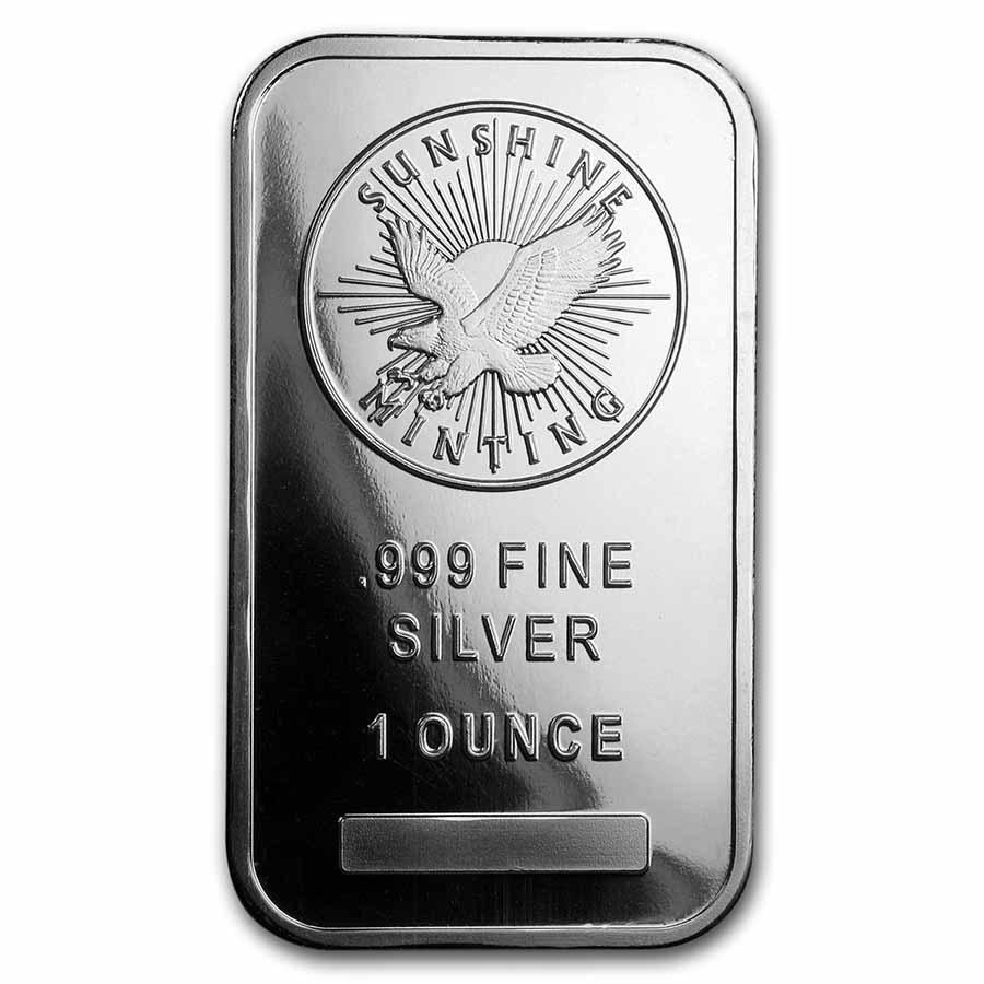 1 oz Silver Bar - Sunshine (Mint Mark SI)