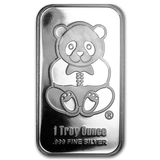 1 oz Silver Bar - Sunshine (Panda, Proof-like)