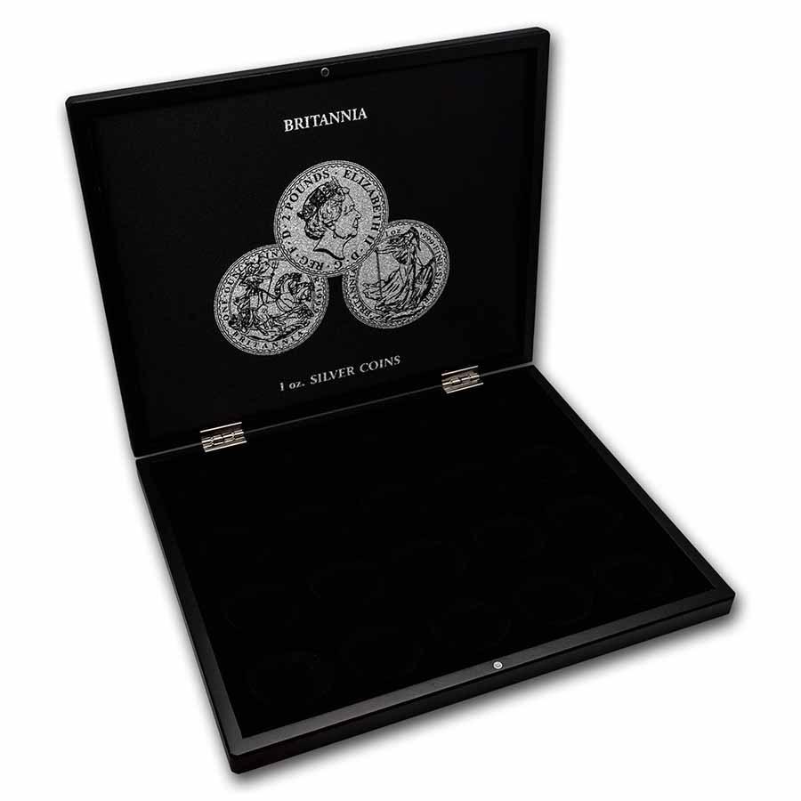 1 oz Silver Britannia 20-Piece Black Presentation Box