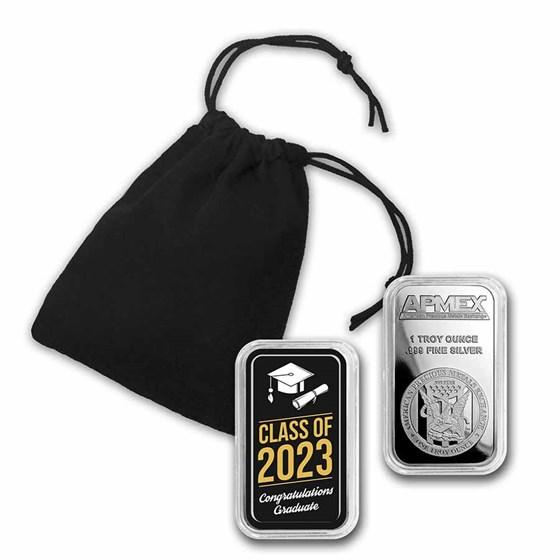 1 oz Silver Colorized Bar - APMEX (2021 Classic Grad)