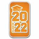 1 oz Silver Colorized Bar - APMEX (2021 Modern Grad)