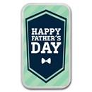 1 oz Silver Colorized Bar - APMEX (Happy Father's Day - Bow Tie)