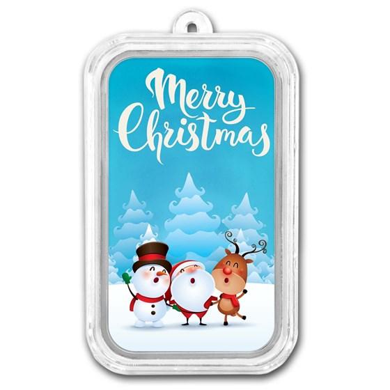 1 oz Silver Colorized Bar - APMEX (Merry Christmas Carolers)