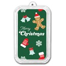 1 oz Silver Colorized Bar - APMEX (Merry Christmas, Festive)
