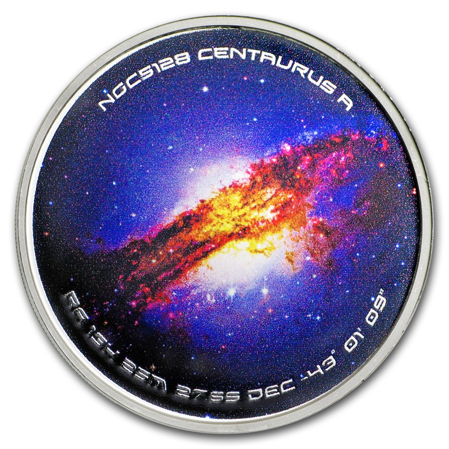 1 oz Silver Colorized Proof Spinner - NGC5128 Centaurus A
