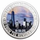 1 oz Silver Colorized Round - 9/11 20th Anniversary: Dawn