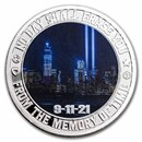 1 oz Silver Colorized Round - 9/11 20th Anniversary | Dusk