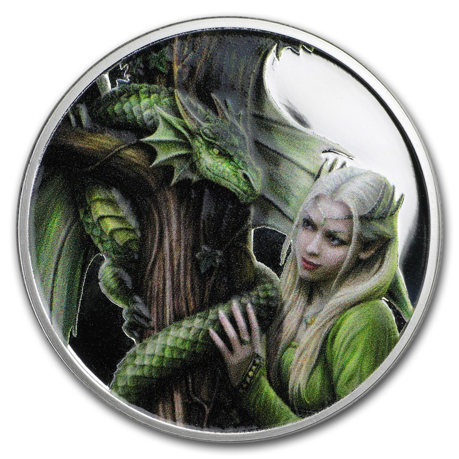 1 oz Silver Colorized Round - Anne Stokes Kindred Spirits (Promo)