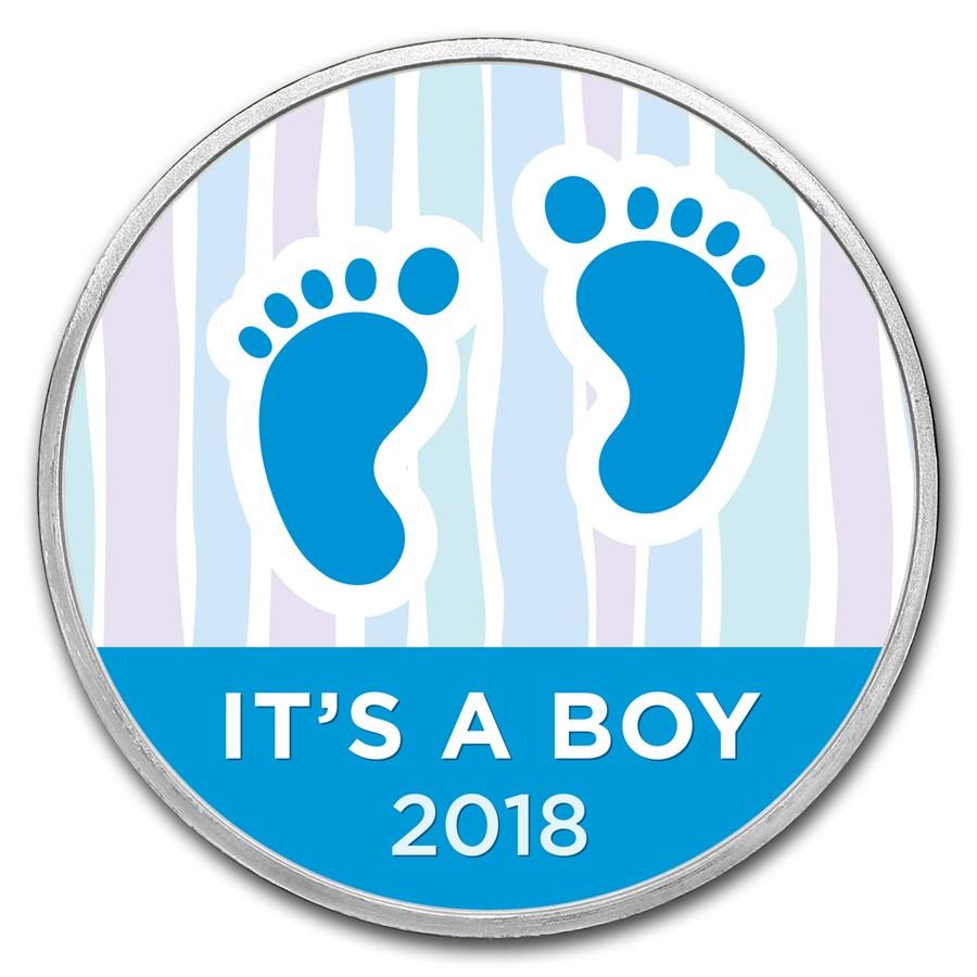 1 oz Silver Colorized Round - APMEX (2018 Baby Steps)