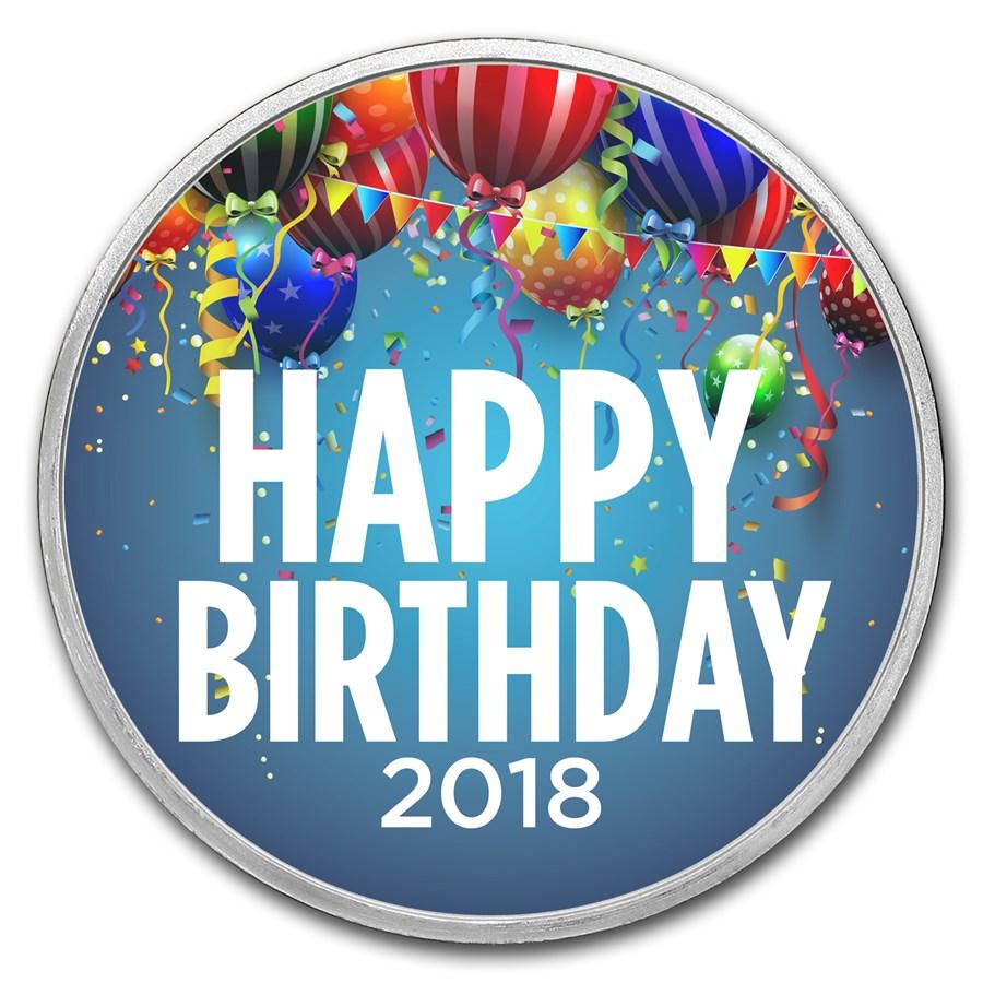 1 oz Silver Colorized Round - APMEX (2018 Birthday Party)
