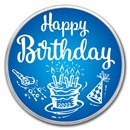 1 oz Silver Colorized Round - APMEX (2020 Birthday Blue)