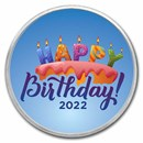 1 oz Silver Colorized Round - APMEX (2020 Birthday Candles)