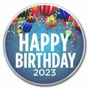 1 oz Silver Colorized Round - APMEX (2020 Birthday Party)