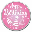 1 oz Silver Colorized Round - APMEX (2020 Birthday Pink)