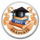 1 oz Silver Colorized Round - APMEX (2020 Prestigious Grad)