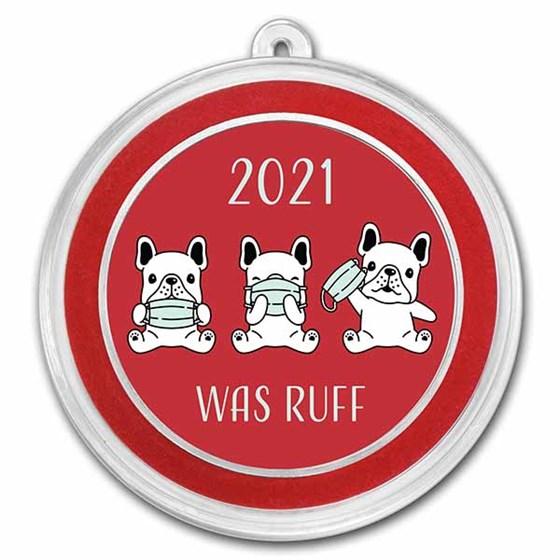 1 oz Silver Colorized Round - APMEX (2020 Was Ruff, Puppies)