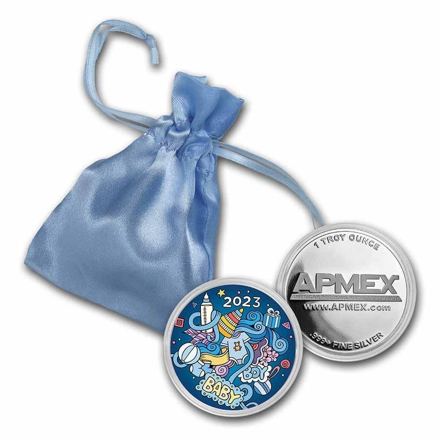 1 oz Silver Colorized Round - APMEX (2021 Amazing Boy)