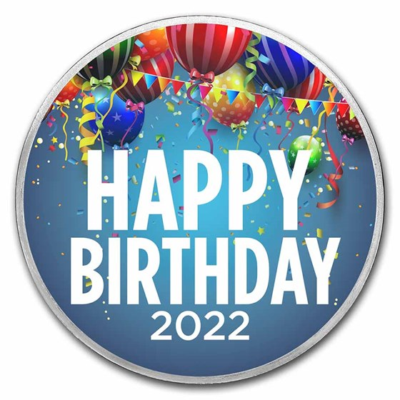 1 oz Silver Colorized Round - APMEX (2021 Birthday Party)