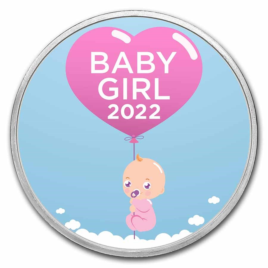 1 oz Silver Colorized Round - APMEX (2021 Bundle of Joy Girl)
