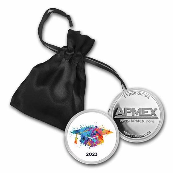 1 oz Silver Colorized Round - APMEX (2021 Colorful Grad)