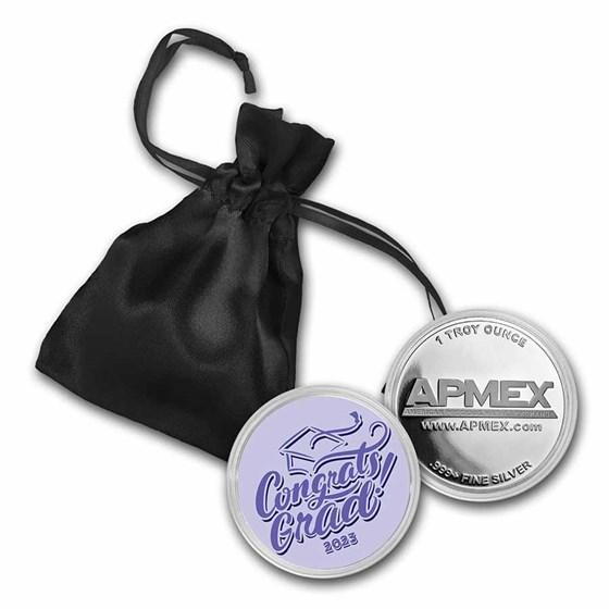 1 oz Silver Colorized Round - APMEX (2021 Congrats Grad)