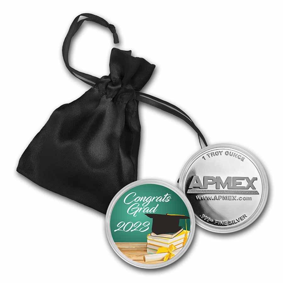 1 oz Silver Colorized Round - APMEX (2021 Congrats Scholar)