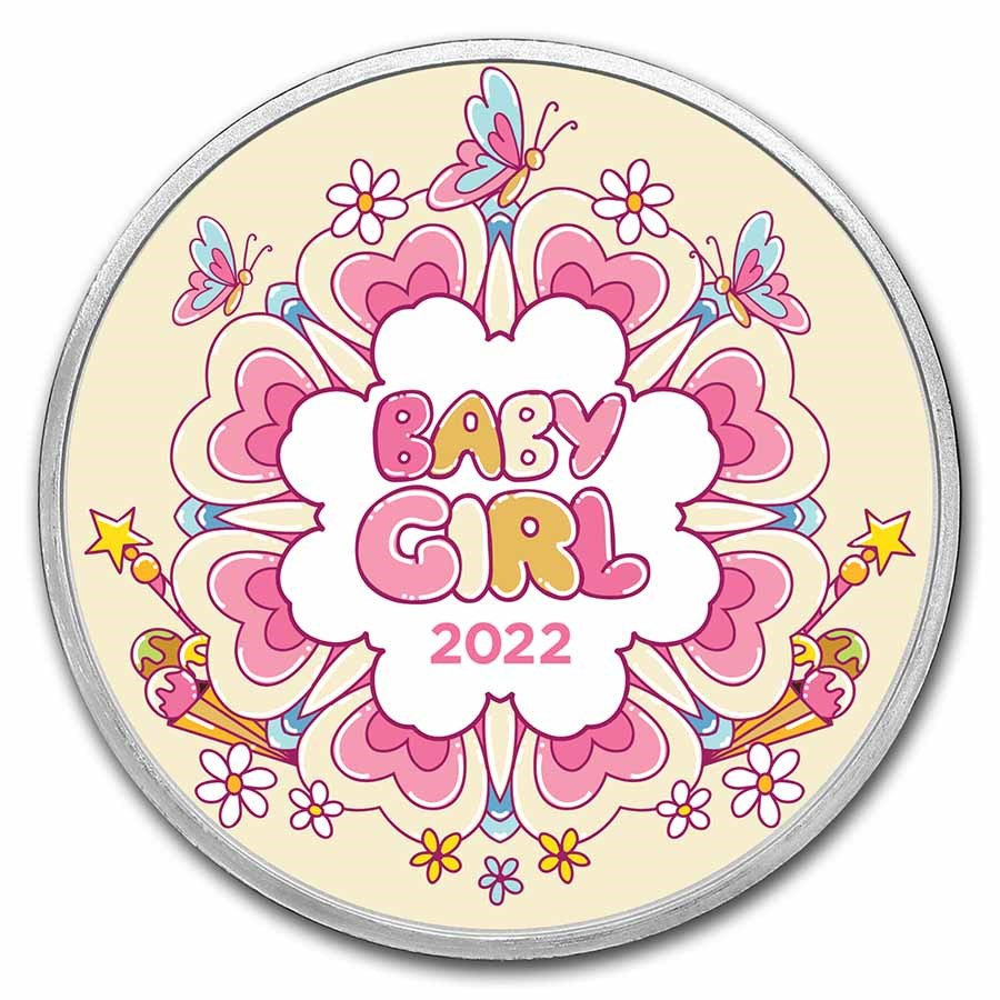 1 oz Silver Colorized Round - APMEX (2021 Girl Power)