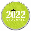 1 oz Silver Colorized Round - APMEX (2021 Modern Grad)
