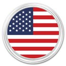 1 oz Silver Colorized Round - APMEX (American Flag)