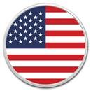 1 oz Silver Colorized Round - APMEX (American Flag)
