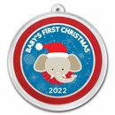 1 oz Silver Colorized Round - APMEX (Baby's First Christmas)