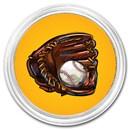 1 oz Silver Colorized Round - APMEX (Baseball)