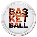1 oz Silver Colorized Round - APMEX (Basketball, Silhouette)