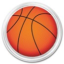 1 oz Silver Colorized Round - APMEX (Basketball)