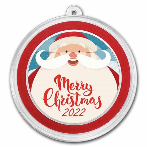 1 oz Silver Colorized Round - APMEX (Big Smiling Santa)