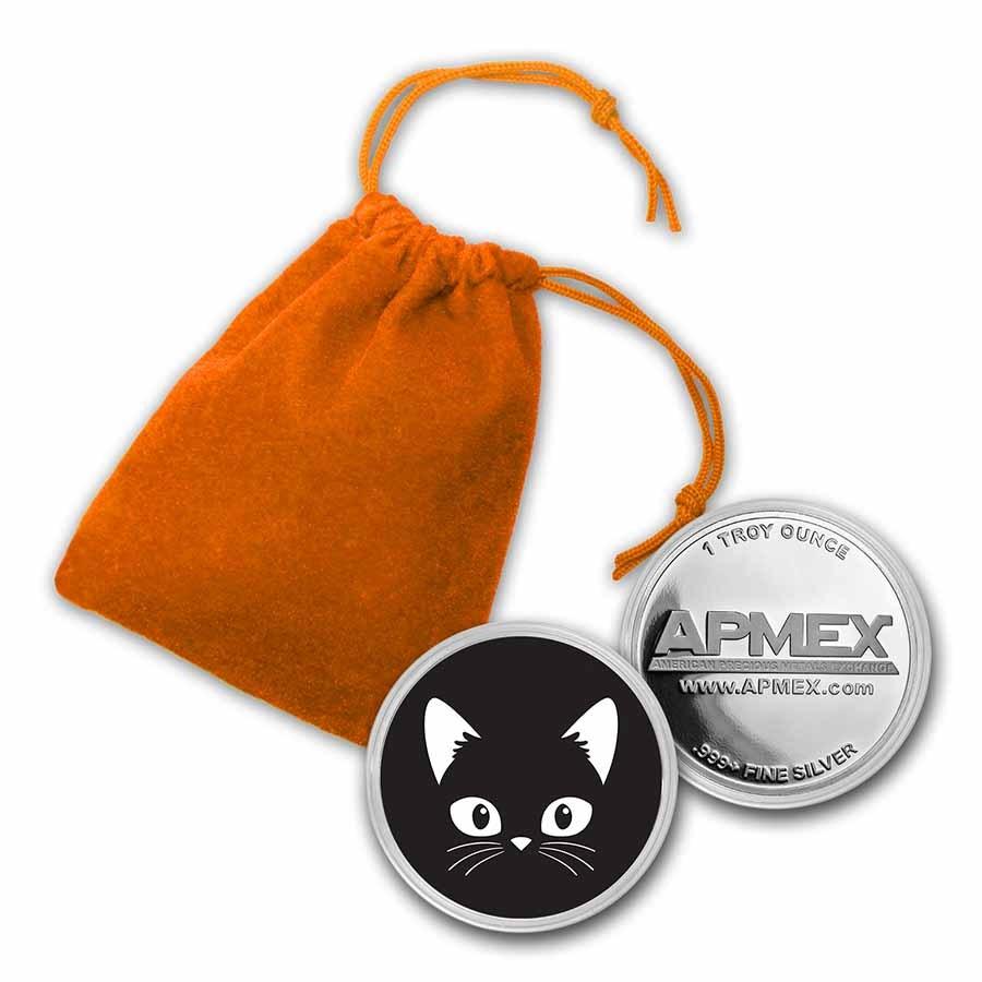 1 oz Silver Colorized Round - APMEX (Black Cat)