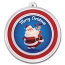 1 oz Silver Colorized Round - APMEX (Blue Merry Christmas Santa)