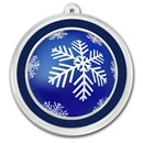 1 oz Silver Colorized Round - APMEX (Blue Snowflake Ornament)