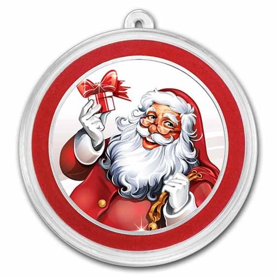 1 oz Silver Colorized Round - APMEX (Cheery Santa Claus)