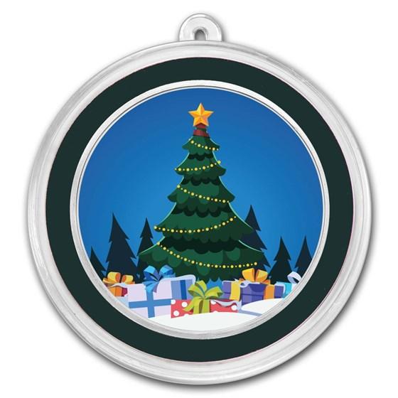 1 oz Silver Colorized Round - APMEX (Christmas Tree)