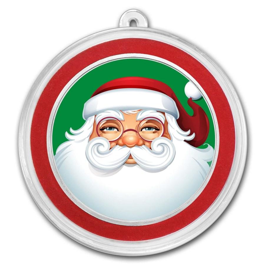 1 oz Silver Colorized Round - APMEX (Classic Santa Claus)