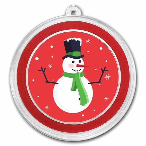 1 oz Silver Colorized Round - APMEX (Classic Snowman)