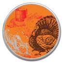1 oz Silver Colorized Round - APMEX (Cornucopia)