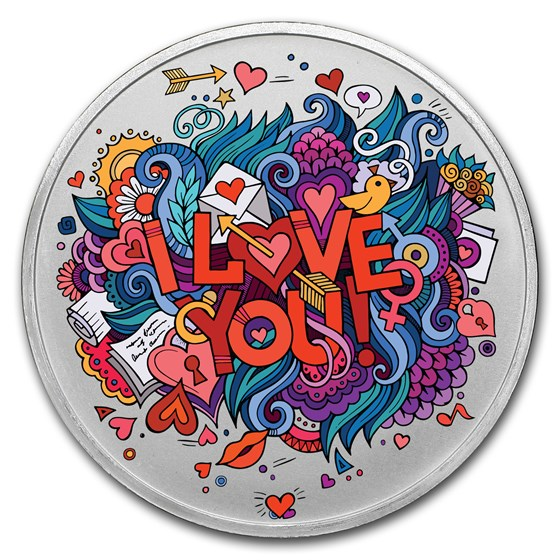 1 oz Silver Colorized Round - APMEX (Crazy Love)