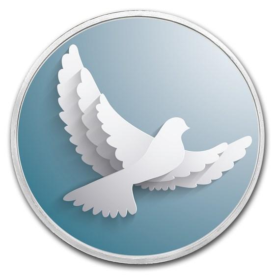 1 oz Silver Colorized Round - APMEX (Dove of Peace)
