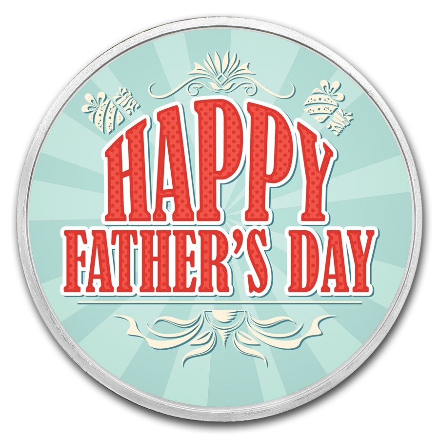 1 oz Silver Colorized Round - APMEX (Father's Day Celebration)