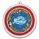 1 oz Silver Colorized Round - APMEX (Feliz Navidad)