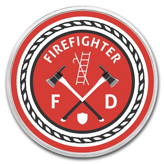 1 oz Silver Colorized Round - APMEX (Firefighter - Classic)