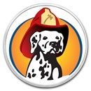 1 oz Silver Colorized Round - APMEX (Firefighter - Dalmatian)